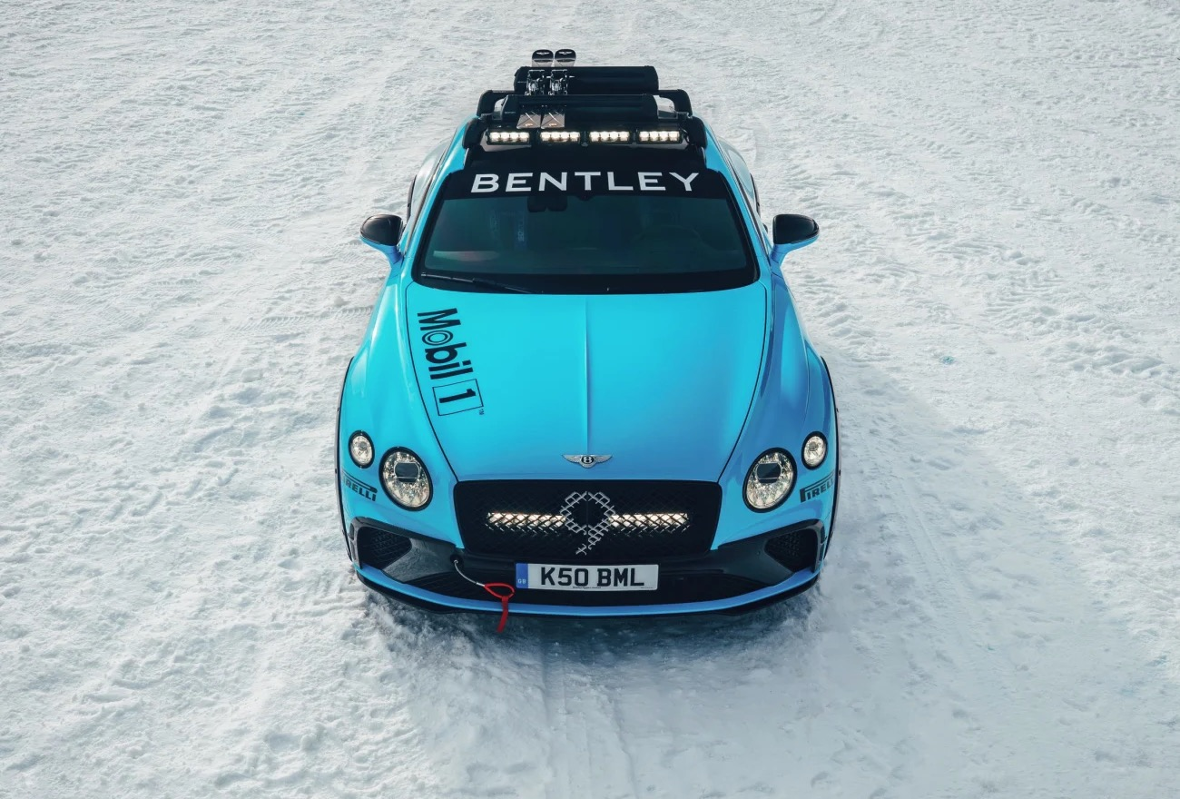 Bentley Ice race