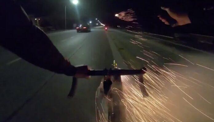 Fyrværkeri på cykel