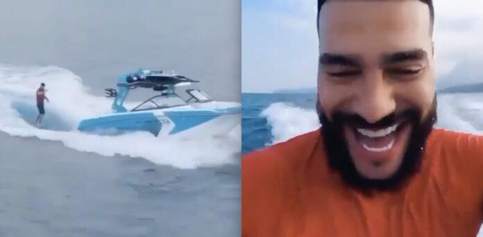 Surfer bag motorbåd