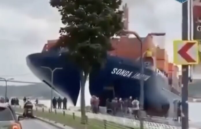 Skib på grund