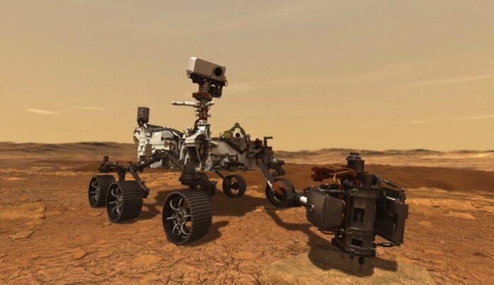 NASA lander på Mars
