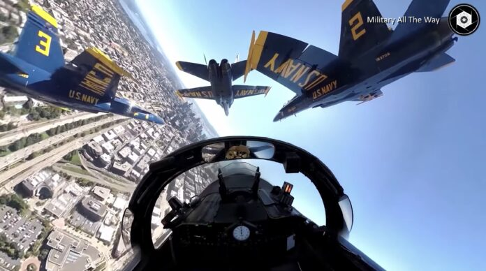 Fantastisk cockpit-view fra US Navy Blue Angels