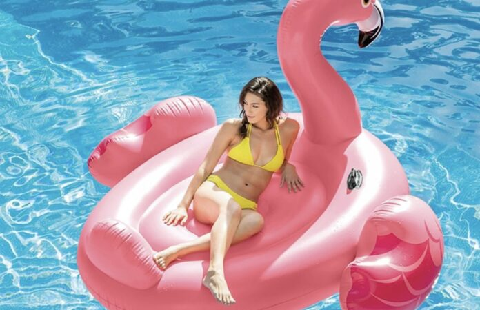 Oppustelig flamingo
